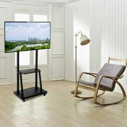"""100"""" Movable Universal TV Stand Wheel Multimedia Teaching Mo"""