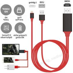 1080P HDMI Mirroring Cable Phone To TV HDTV AV Adapter For i