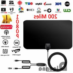 200 Mile Range Antenna TV Digital HD Skywire 4K Antena Digit