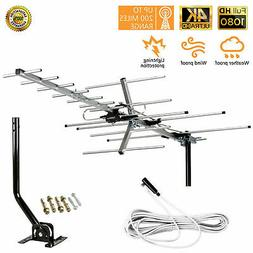 200 Miles Outdoor Amplified HDTV TV Antenna HD VHF UHF FM Mo