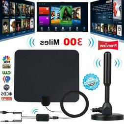 300 Mile HDTV Indoor Antenna Aerial HD Digital TV Signal Amp