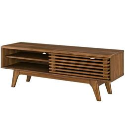 "48"" Mid Century Modern LED LCD DLP HD TV Stand Credenza Slat"