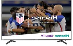 "Hisense 55"" 4K Ultra HD HDR Roku Smart TV with USB & 3 x HDM"