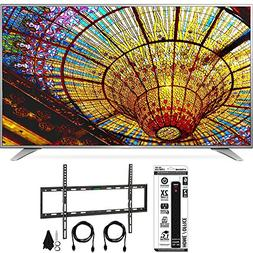 LG UH6550 4K UHD Smart TV w/ webOS 3.0 Flat Wall Mount Bundl