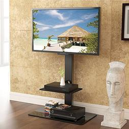 FITUEYES Universal tv Stand with Mount Two Shelves for 32inc