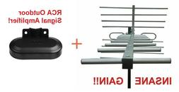 Amplified Very Long Range HD TV Antenna + Includes Low Noise