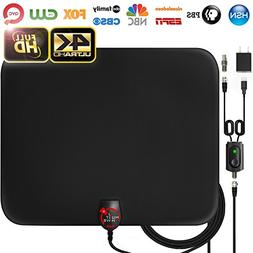 Amplified HD Digital TV Antenna Long 65-80 Miles Range –