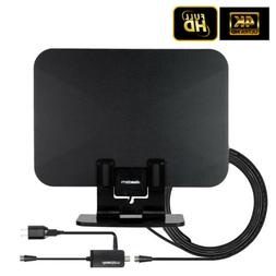 Amplified TV Antenna Stand Flat HD Digital HDTV Amplifier 10