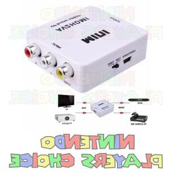 RCA AV To HDMI HDTV Converter For Nintendo NES SNES N64 Game