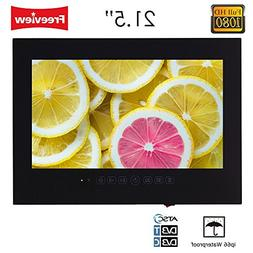 "Soulaca 21.5"" Black Frameless Bathroom LED Full HD 1080 Wate"