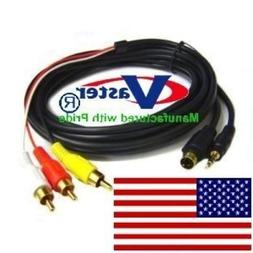 25 Ft S-Video Composite AV Cable, with Chip Support LCD Plas