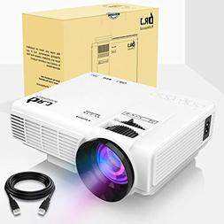 """DR.J Upgrade 4Inch Mini Projector 170"""" Display - 40,000 Hour"""