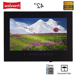 "Soulaca 42"" Frameless Black Color Waterproof TV Full HD Show"