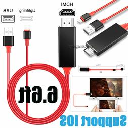 HDMI Mirror Cable Phone to TV HDTV Adapter For iPhone 6 7 8