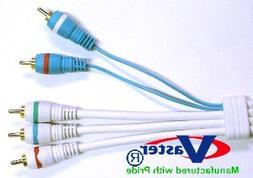 2 Pcs HDTV Component Cable, 5 in 1 RCA Component Audio Video
