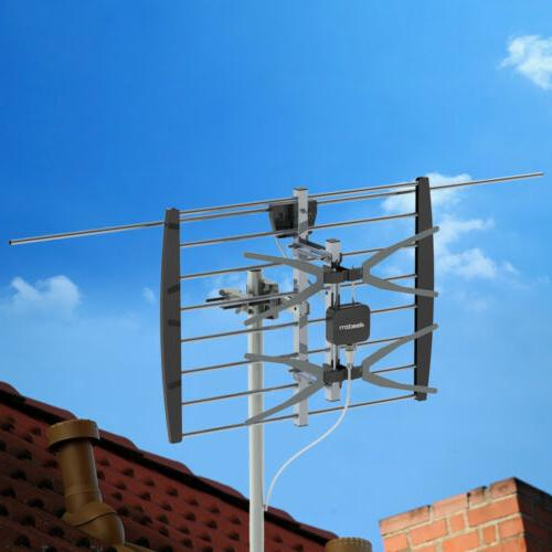 HDTV 1080P Outdoor Amplified Digital Antenna 360 Rotor HD TV
