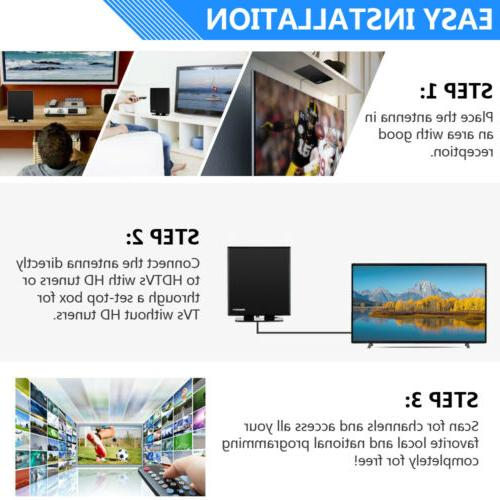 150Mile 1080P Indoor Antenna Amplified HD Digital TV Antenna Stand