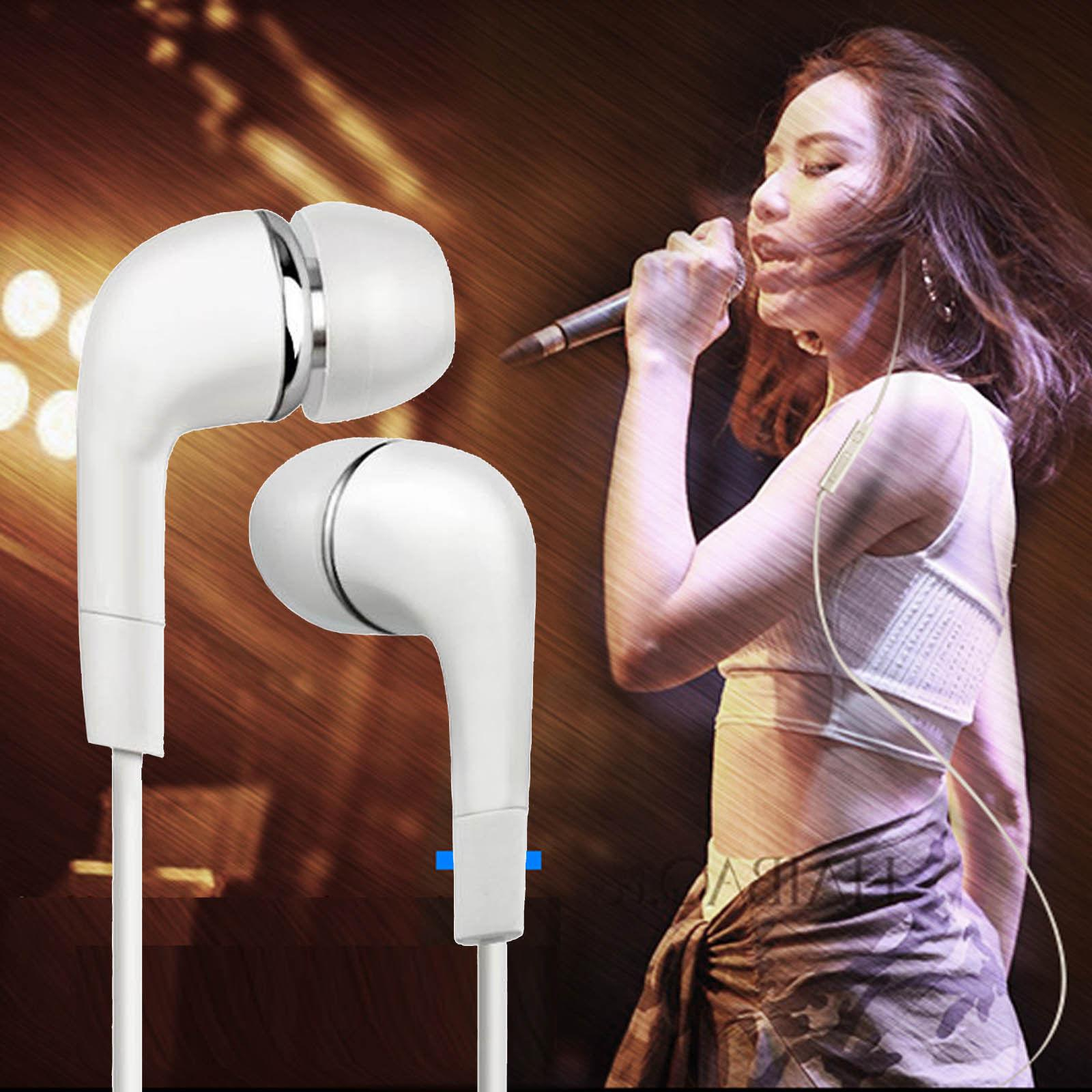 2pcs Samsung Wired Headphones Earphones Earbud with Mic-White