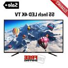 55 Inch LED Screen 4K TV Clearance 2160p Ultra HD Television