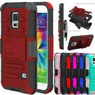 Hybrid ShockProof Kickstand Belt Clip Case Cover for Samsung