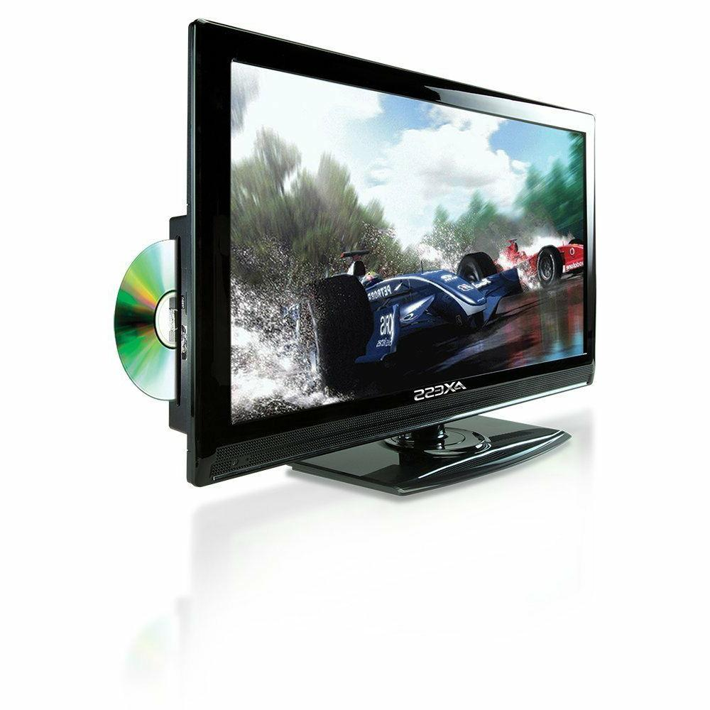 "19"" HD LCD TV TELEVISION w/ DVD PLAYER AC/DC & CAR RV TRUCK"