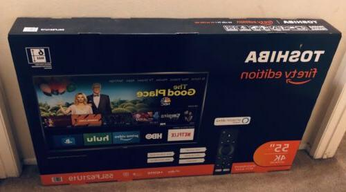 NEW Toshiba 55 LED 2160p 4K FIRE TV SMART ULTRA HDTV  LATEST