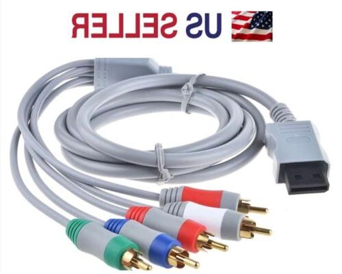 New HD TV Component RCA Audio Video AV Cable Cord Plug for N