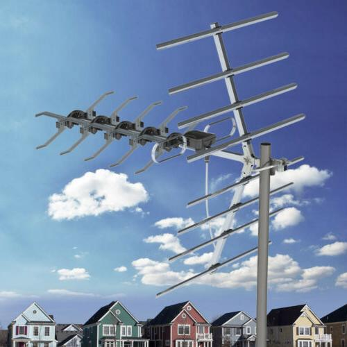 outdoor hd tv antenna amplified 1080p 150miles