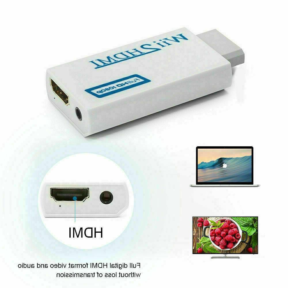 Portable Wii Wii2HDMI Full HD Converter Output Adapter