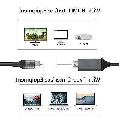 USB HDMI AV Cable Adapter For Galaxy S8 MacBook