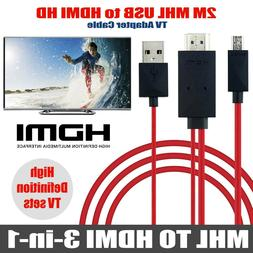 MHL 11pin Micro USB to HDMI 1080P HD TV Cable for Android Ph
