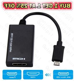 Micro USB To HDMI 1080P HD TV Cable Adapter for Android Phon