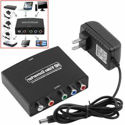 New HDMI to 5RCA RGB Component YPbPr Video +R/L Audio Adapte