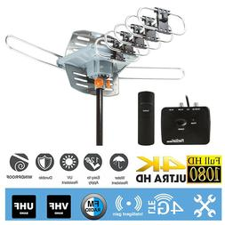 Outdoor 1080P Amplified HDTV Digital TV Antenna HD 360 Rotor