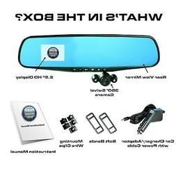 "Official HD Mirror Cam As Seen on TV Dash Cam 350° 2.5"" L"