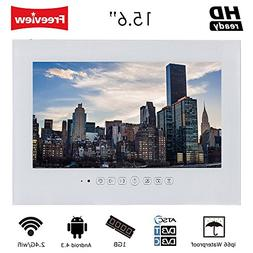 """Soulaca 15.6"""" Smart White Android 4.2 Bathroom Wi-Fi TV Wate"""