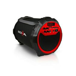 Axess Spbt1036Rd Red Portable Indoor/ Outdoor Bluetooth Cyli