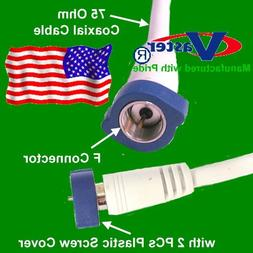 SuperEcable - 20778-8 - 35 Ft Coaxial Satellite HDTV TV Ante