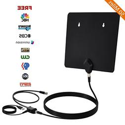 TV Antenna, Thuctek Digital HD TV Antenna Indoor 50 Miles Am