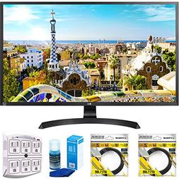 "LG 32"" 3840x2160 Ultra HD 4k LED Monitor  with 2x 6ft High S"