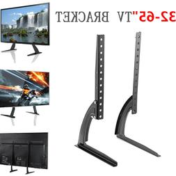 "Universal HD Table Top TV Stand Leg LED LCD Flat TV 32-65"" S"