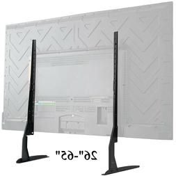 "Universal LCD LED HD Table Top TV Stand Base for 26"" - 65"" F"