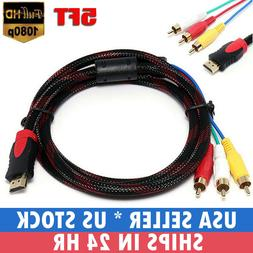 1080P HDMI Male to 3 RCA AV Cable Cord Adapter Converter Vid