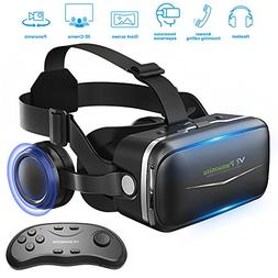 Pansonite Vr Headset with Remote Controller, 3d Glasses Virt