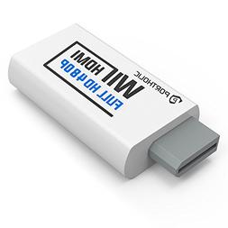 PORTHOLIC Wii to HDMI Converter for Full HD Device, Wii HDMI