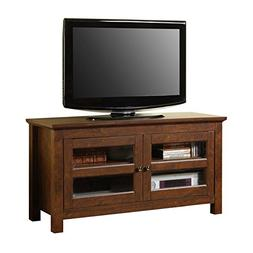 """Walker Edison Wood 44"""" TV Stand with Glass Door Cabinets"""